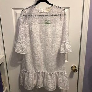 Kate Spade Lace Flounce Shift Dress